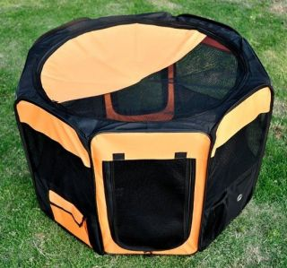 "Folding 36"" Exercise Dog Cat Cage Pen Soft Pet Playpen Kennel Crate Fences"