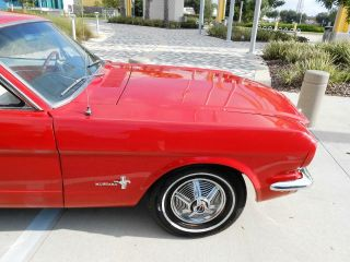 Restored 1965 Ford Mustang Coupe Red Auto Driven to FL from TX