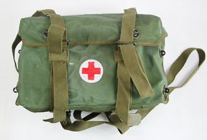 Chinese Army Field Medic Canvas First Aid Kit Medical Bag Box Pouch 32822