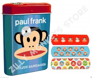 Paul Frank Julius First Aid Bandages in Collectible Tin Band Aids Bandaids