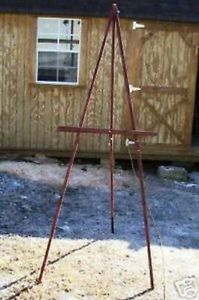 Sedona Red Stain Wood Artist Easel Display Painting Easel Art Supplies Easels