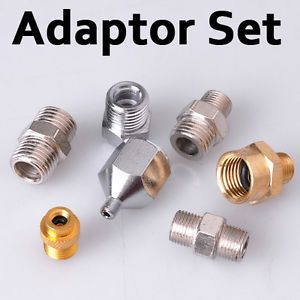 7x Adaptor Kit Connector Set for Compressor Airbrush Air Hose Fitting Tattoo Art
