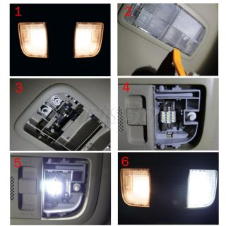 6X White LED Interior Light Package Multi Model 7