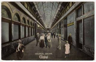 Postcard of Colonial Arcade in Cleveland Ohio