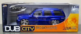 2000 Cadillac Escalade Diecast Model Car Jada Dub City 1 18 Scale Purple