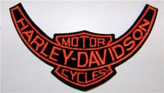 Harley Davidson Motorcycles Orange Black Jacket Patch