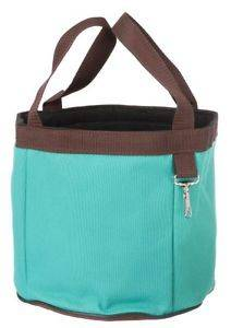Turquoise Blue Brown Grooming Tools Brush Hoof Pick Curry Caddy Tote Bag Horse