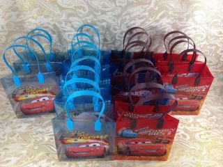 12 PC Disney Cars Goodie Bags Party Favor Bags Gift Bags Birthday Bags