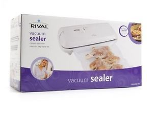 New White Rival FoodSaver Seal A Meal Food Vacuum Sealer Kit w Bag SHIP Free