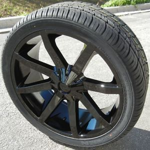 "24"" KMC Slide Wheels Nexen Roadian HP Tires Silverado Tahoe GMC Yukon Escalade"