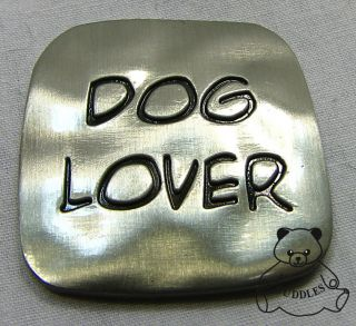Dog Lover Charm Token Coin Ganz Flat Metal Puppy Love Paw Print Pup Pet New S