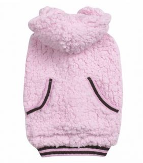 Dog Snowbaby Fleece Hoodie Sweatshirt Pink Blue