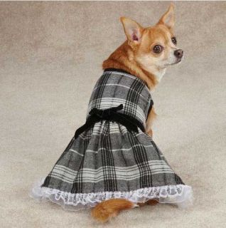 Zack Zoey Park Avenue Dog Dress Black Pet Dresses Ruffle