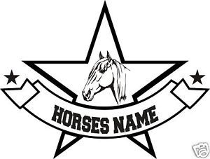 Horse Head Personalized Trailer Truck Decal 12""