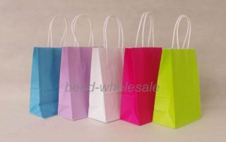 New Party Candy Color Paper Bags Wedding Favours Birthday Christmas Gift Bag