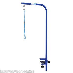 Blue Pro Heavy Duty Grooming Groomers Pet Dog Cat Table Arm w Clamp Loop 36""
