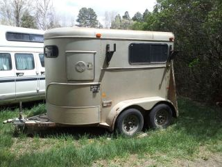 Horse Trailer 1995 Highway 199W 2 Horse Ramp Load Bumper Pull