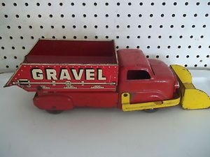 Vintage Marx Sand and Gravel Dump Truck with Front Scoop Loader