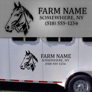 "Horse Trailer Lettering Horse Trailer Farm Decals Farm Truck Name 48"" x 20"""