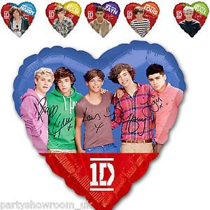 "18"" Official One Direction 1D Boy Band Party Heart Foil Balloons"