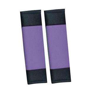 20pc Set Purple Black Auto Car Seat Covers Wheel Belt Pads Head Rests Floor Mats