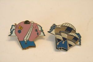 United New Mexico Bank Miss Penny Hot Air Balloon Pin 2 Pins Retired Balloons