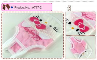 Dog Cat Clothes Tank Shirts Kitty Mesh Halters A717