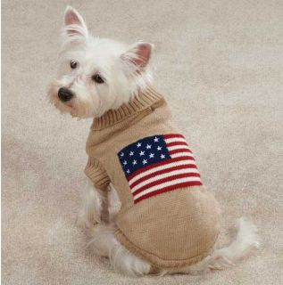 Zack Zoey Americana Flag Sweater Pet Dog Knit Sweater XXS XL Sweaters Top