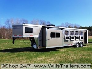 2014 LAKOTA 4 Horse Living Quarter Luxury Trailer No Hidden Reserve $334 Monthly