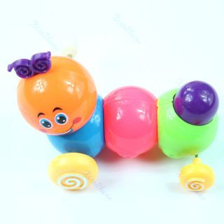 Baby Child Kids Colorful Wind Up Clockwork Venonat Carpenterworm Funny Toy Gift