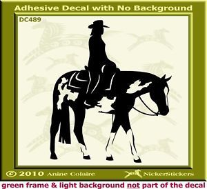 Western Pleasure Paint Horse Trailer Decal Sticker 489