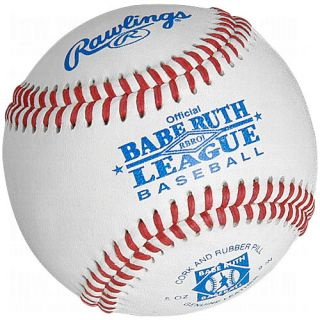 Rawlings Sporting Goods Rawlings Babe Ruth League Leather Baseballs 1 Dozen