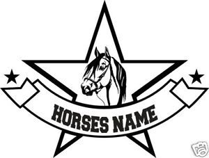Paso Horse Head Personalized Trailer Truck Decal 12""