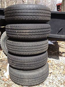 5 Jeep Wrangler JK Goodyear Tires 16x7 Stock Steel Wheels Mounted with TPMS
