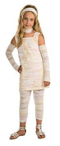 Girls Mummy Costume Halloween Outfit Bandages Wrap Dress Scary Ghost Monster New