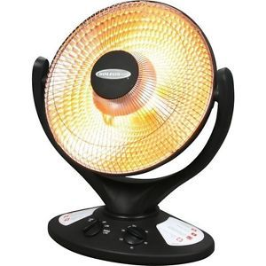 Soleus Oscillating Radiant Heater Portable Electric Small Halogen Heat Lamp