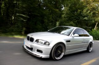 BMW E46 M3 with Black Wheels HD Poster Sports Car Print Multiple Sizes Available