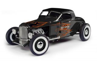 1929 Ford Hot Rod Roadster Harley Davidson 1 18 Diecast