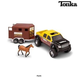 New Tonka Horse Trailer with Truck and Horse Plus Safe Durable Fun