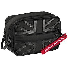 Mini Cooper Black Jack Wash Kit Toiletry Travel Bag New