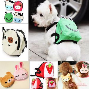 Cute Dog Bag Dog Backpack Carrier Harness Saddle Bag Leash Backpack for Pet Dog