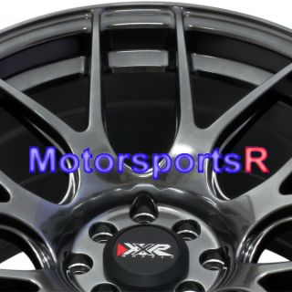 17 XXR 530 Chromium Black Rims Wheels Staggered 4 Lugs 95 96 98 Nissan 240sx S14