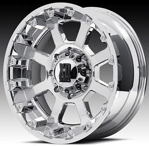 20 inch 20x10 XD Chrome Wheels Rims 5x5 5x127 07 Jeep Wrangler Lifted