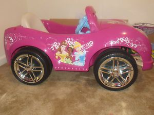 Disney Princess Girls' Convertible Car 6 Volt Battery Powered RideOn Pickup Only