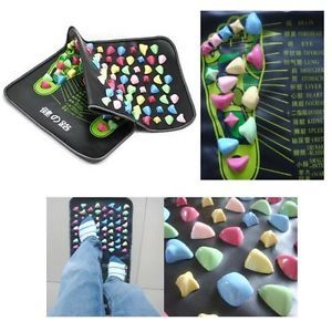 Reflexology Walk Stone Foot Massage Leg Massager Mat Health Care 170cm X35CM New