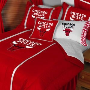 5pc NBA Chicago Bulls Basketball Bed N Bag Comforter Sheet Full Bedding Set
