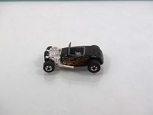 "1975 Redline Hot Wheels ""Black Roadster"" Flames Headers Hot Rod"