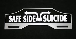 Hot Rod License Plate Tag Topper Suicide Chevrolet Ford