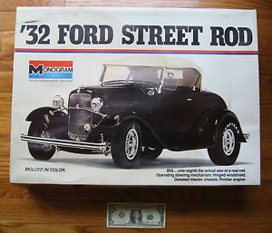 Monogram '32 Ford Street Rod Large 1 8 Scale Model Kit 1932 Hot Rod