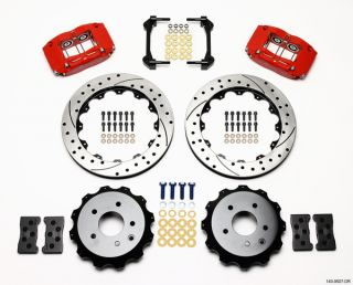 Wilwood Disc Brake Kit 03 08 Infiniti G35 Red Drilled R